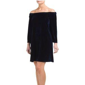 NWT!! Off the shoulder velvet dress